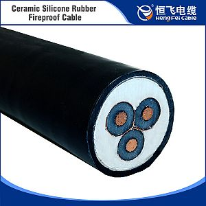 Top Level Unique Ceramic silicone rubber fireproof cable