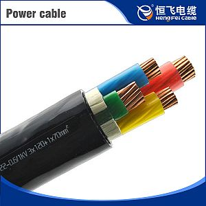 Low smoke 0 halogen 0-6/1kV xlpe insulated power cable (Cu/XLPE/AWA/LSOH)