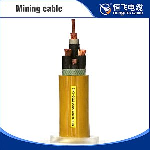 Metal shielded rubber sheathed mobile flexible mining cable