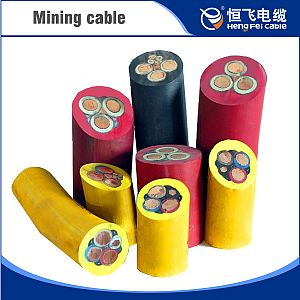 Mobile metal shielding flexible mining cables with monitoring cores