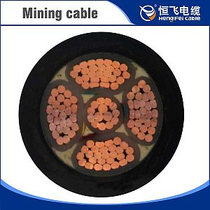 Mobile metal shielding flexible cables for coal mining