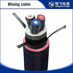 Rubber sheath drilling cable for coal mine