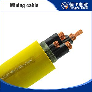 Movable shield coal mining cables