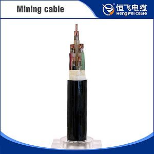 PVC sheathed sta solid silicone mining power cable