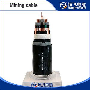 Copper core rubber coated pvc sheathed mining power cable