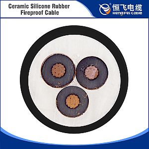 Top Level ceramic silicone rubber inner sheathed fireproof cable manufacturer