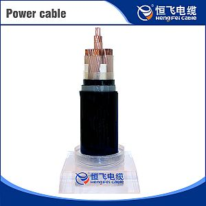 Copper core XLPE insulated and PVC sheathed power cable
