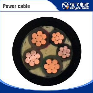 Flame Retardant Assemblies 2X4mm2 Flat Power Cable